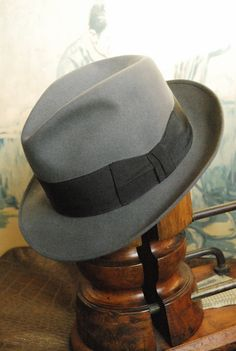 Vintage 60's German Made Grey Stetson Fedora Hat UK 7 1/8 on Etsy, $39.99