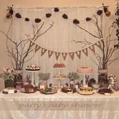 214 Best Woodland Animal Themed Baby Shower Images On Pinterest regarding The Incredible  woodland themed baby shower decorations with regard to Your own home