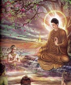Lord Buddha Shakyamuni who taught the path out of suffering after attaining enlightenment under the Bodhi tree. Painting by Kritsana Suriyakarn. Lord Tsongkapa, King of the Dharma Diamond Drawing, 5d Diamond Painting, Amitabha Buddha, Buddha Life, Buddha Wisdom, Buddha Painting, Buddha Artwork, Mystique, Meditation Music