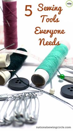 While there are many different sewing tools available on the market today- you don't have to have them all. ZJ Humbach shares what her top five go-to tools are and what they are used for. This is helpful information if you are looking to add new tools to your sewing room, or if you are new to sewing and are unsure what the best tools to invest in first are. Diy Sewing Projects, Sewing Hacks, Sewing Tutorials, Sewing Tips, Sewing Ideas, Celtic Quilt, Sewing Machine Thread, Sewing Essentials, Sewing Equipment