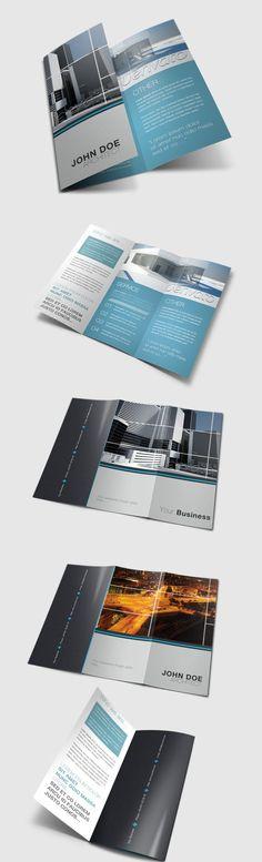 Tri Fold Brochure by Danijel Mokic, via Behance