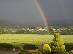 More used book shops than you can imagine in one community...a town of books...Hay-on-Wye Double Rainbow | Taken by: Zena Davies