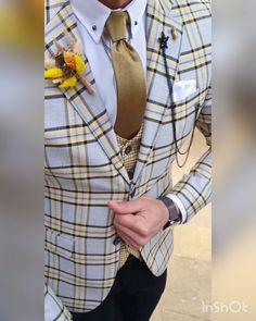 Latest Mens Fashion, Mens Fashion Suits, Mens Suits, Man Fashion, Gents Kurta Design, Designer Suits For Men, Checked Suit, Formal Suits, Suit Vest