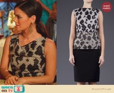 Zoe's black and white printed cow neck dress on Hart of Dixie. Outfit Details: http://wornontv.net/25854 #HartofDixie #fashion