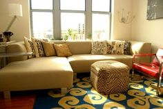 A sectional can work in a small room #furniture #decor #home #living_room