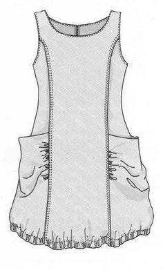 Image result for boho pinafore pattern free