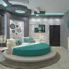 Komal Bedroom Decor, Bedroom Furniture, Gypsum Ceiling, Woman Bedroom, Modern Home Interior Design, Ceiling Design, Awesome Bedrooms, Master Bedroom Design, Luxurious Bedrooms