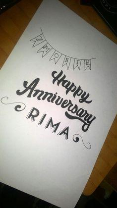Happy anniversary my wife ♥
