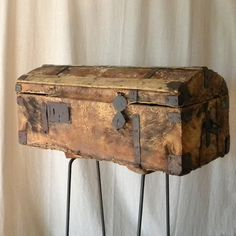 French antique chest rustic furniture by lapomme on Etsy