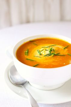 Carrot Ginger #Soup from @The Curvy Carrot - yum!