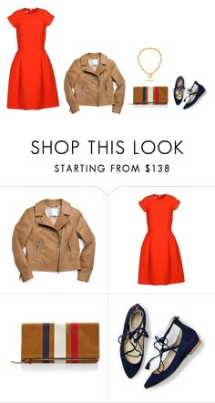 """""""Untitled #4924"""" by mrs-box ❤ liked on Polyvore featuring Coach, Oscar de la Renta, Clare V., Boden and Jennifer Fisher"""
