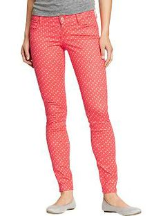 Polka dot skinny jeans forever21 2031562908 jade dont judge i dont know why but i am really digging these pink polka dot pants sisterspd