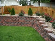 retaining wall ideas perfect for patio scale down along the hill