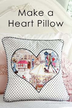 Gorgeous Heart Applique for Pillows by Girl. Inspired.