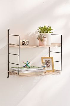 Still working on organization in January and shelving can play a big part in getting organized, especially when you don't have a lot of floor space for bulky storage pieces, credenzas, etc. So, I rounded up a whole bunch of my favorite shelves for any space – all $50 or less! #shelving #organization #storage #homedecor