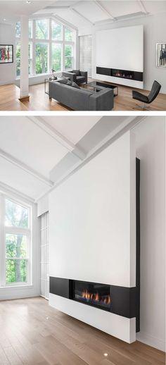 Design Detail – A Modern Minimalist Fireplace Surround - via contemporist.com