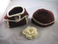 Crochet Korner Crochet Beanie Hat and Diaper by CrochetKorner, $20.00
