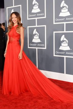 rihanna in alaia @2013grammyawards