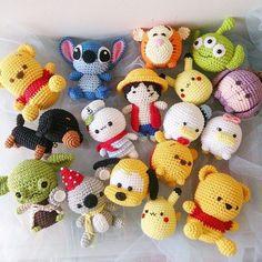 personajes disney chibi crochet-otakulandia.es