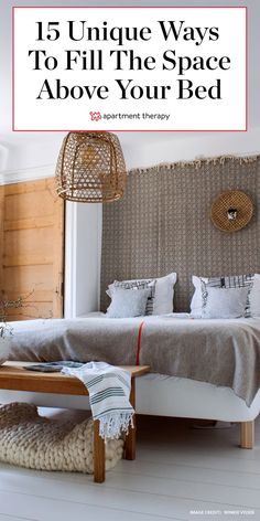 From cube shelving to gridded gallery walls to statement making tapestries, the options are a-plenty. Here are 60 to pull inspiration from. Bedroom Wall Designs, Boys Bedroom Decor, Farmhouse Style Bedrooms, Minimalist Home Interior, Interior Modern, Master Bedroom Makeover, Bedroom Flooring, Fall Home Decor, Luxurious Bedrooms