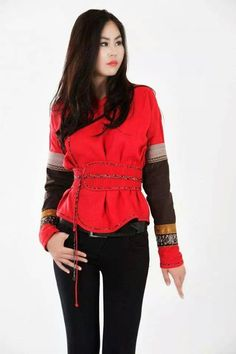 Mongolian national clothing jaket