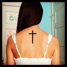 My cross tattoo #cross #tattoo #back