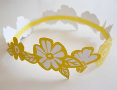 Floral paper crown #tutorial