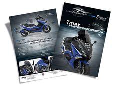 """La société Ermax, spécialisée dans le thermoformage plastique depuis 1978, et le concepteur auto-moto Lazareth se sont associés pour créer un kit complet, pour le scooter TMax 530 de Yamaha, destiné au grand public. Lazareth a créé un concept bike """" l'Hypermodified"""" à partir d'un TMax 530 à la demande de Yamaha. Ermax a adapté et produit un kit pour transformer le design d'un simple TMax 530 en """"Hypermodified"""". Création de flyer pour le kit 530 TMax Hypermodified Kit, Creations, Public, Simple, Books, Design, Plastic, Libros, Book"""