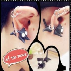 Aliexpress.com : Buy Cute Fashion Cat Earring For One from Reliable Stud Earrings suppliers on Grandbeing Technology Co., Ltd.