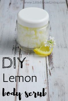 Create a simple and yet refreshing Lemon Body Scrub with just 3 ingredients!