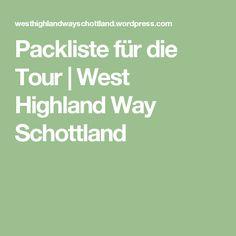 Packliste für die Tour | West Highland Way Schottland