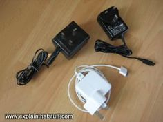 Small transformers built into cellphone, iPod, and other charging devices.
