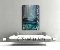SALE Turquoise Abstract painting ORIGINAL PAINTINGS Modern Art