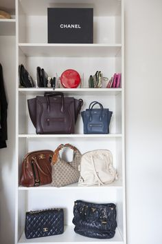 organized handbags // Organizing Spotlight: Neat Method // Arianna Belle Blog
