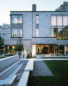 I would love a home with these design elements - glass, stone, wood.