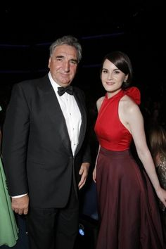 Jim Carter and Michelle Dockery are seen at the 65th Primetime Emmy Awards at Nokia Theatre on Sunday Sept. 22, 2013, in Los Angeles.