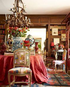 A riot of patterns creates an exotic refuge in designer @michellenussbaumer's Texas home. | Photo: @melanieacevedophoto