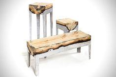 Amazing Aluminum Wood Fusion Furniture.