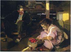Joaquin Sorolla y Bastida >> Pimientos  |  (oleo, obra de arte, reproducción, copia, pintura).