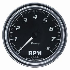 Equus 7068 Tachometer - Black Dial, Model: 7068, Car & Vehicle Accessories / Parts. Works on vehicles with conventional, electronic, and distributorless ignition systems. Can be calibrated to work with 4, 6, and 8 cylinder engines and outboards. Chrome bezel and black dial with Domelux lens. 0 to 8000 RPM scale in 100 RPM increments. Offers two installation options, including hardware and inductive pickup.