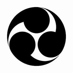 "Japanese family crest ""hidari mithudomoe"""