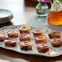Banana+Cherry+Custard+Muffins+-+Valerie+Bertinelli+@keyingredient+#muffins+#delicious