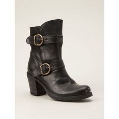 Fiorentini Baker 'Nena' boots ❤ liked on Polyvore featuring shoes, boots, black mid heel shoes, black leather shoes, genuine leather boots, black boots and fiorentini baker boots