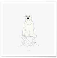 Isbjørn als Premium Poster