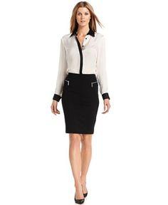 MICHAEL Michael Kors Zipper-Pocket Pencil Skirt - Skirts - Women - Macy's