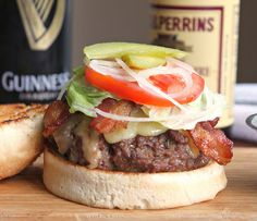 Guinness Bacon Cheeseburgers