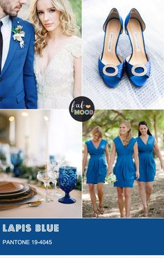 Pantone Lapis Blue, we've put together some great ways to feature this Pantone Lapis Blue colour for the bride and groom who want to follow one of history's