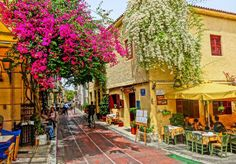 "See 1489 photos from 16379 visitors about café, areas in athens, and acropolis. ""Historic Plaka is down to the Acropolis hill and is full of. Oh The Places You'll Go, Places To Travel, Places To Visit, Travel Destinations, Greece Vacation, Greece Travel, Greece Trip, Wonderful Places, Beautiful Places"
