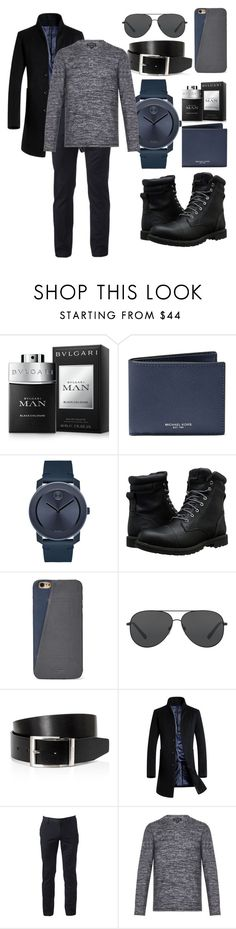 """men"" by amiraahmetovic ❤ liked on Polyvore featuring beauty, Bulgari, Michael Kors, Movado, Timberland, FOSSIL, HUGO and Urban Pipeline"