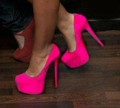every girl needs a pair of hot pink heels..